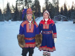 Lapplanders in traditional garb